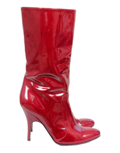 Lanvin Patent Leather Mid-Calf Boots