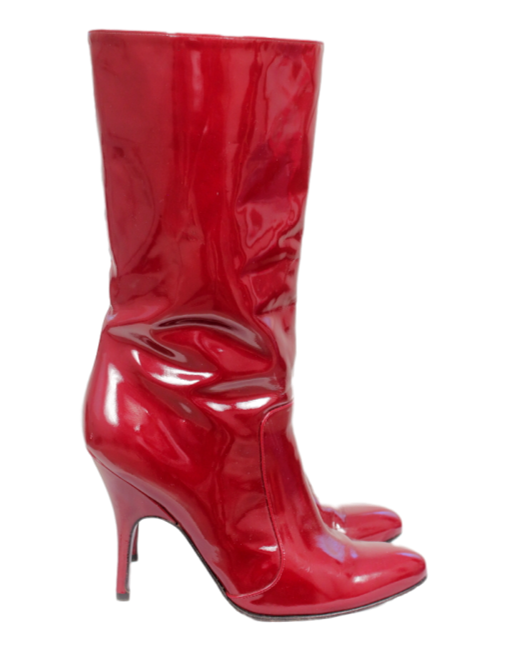 Lanvin Patent Leather Mid-Calf Boots - eKlozet Luxury Consignment
