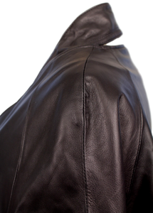 ONE by GAR-DE Kaffi Leather Cape Jacket