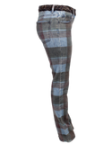 CHANEL PLAID PRINT STRAIGHT-LEG JEANS Side- eKlozet Luxury Consignment