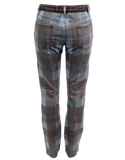 CHANEL PLAID PRINT STRAIGHT-LEG JEANS Back- eKlozet Luxury Consignment
