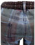 CHANEL PLAID PRINT STRAIGHT-LEG JEANS Close Back- eKlozet Luxury Consignment