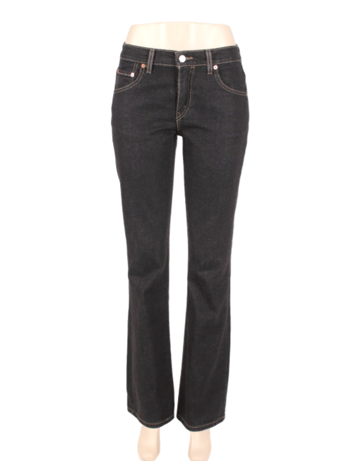 Levis Strauss 525 Black Jeans Front - eKlozet Luxury Consignment Boutique