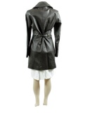 Via Spiga Knee Length Leather Coat - eKlozet Luxury Consignment