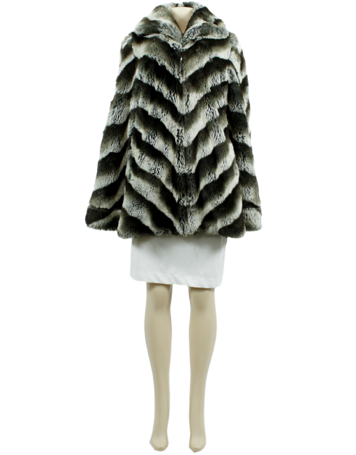 PAMELA McCOY Faux Fur Coat - eKlozet Luxury Consignment
