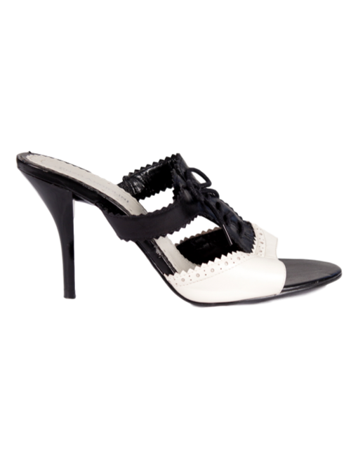 Enzo Angiolini Tuxedo Slip-On Sandals - eKlozet Luxury Consignment