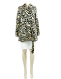 LAUREN RALPH LAUREN Animal Print Short Trench Coat - eKlozet Luxury Consignment