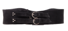 WIDE SUEDE GROMMET BELT