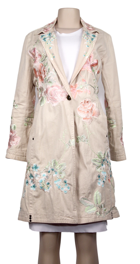 JOHNNY WAS BIYA EMBROIDERED COAT - eKlozet Luxury Consignment