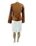 PAMELA MCCOY COLLECTIONS Collarless Leather Jacket - eKlozet Luxury Consignment