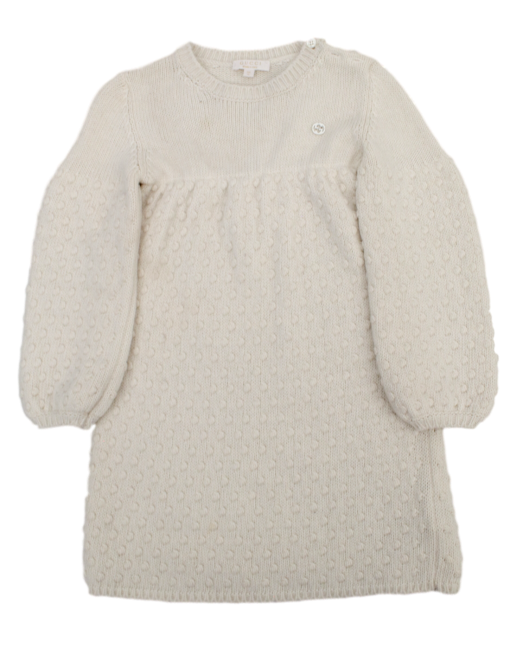 GUCCI GIRLS WOOL/CASHMERE/ANGORA SWEATER DRESS