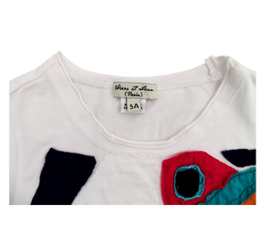 Eliane et Lena Girls' Patchwork Top