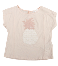 Chloe Girls' Embroidered Pineapple T-Shirt
