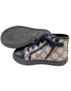 GUCCI GIRLS' GG LEATHER SNEAKERS
