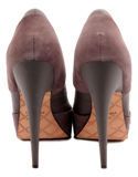 L.A.M.B. LEATHER AND SUEDE 'LEISURE' PUMP
