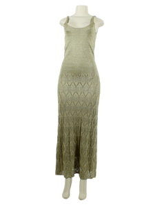 Spiegel Metallic Long Dress - eKlozet Luxury Consignment