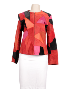 MARGARET GODFREY PATCHWORK LEATHER JACKET - eKlozet Luxury Consignment