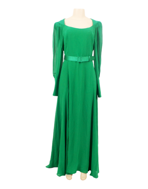 ESCADA GOWN WITH BISHOP SLEEVES