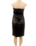 Valentino Leather & Velvet Strapless Dress New w/ Tags - eKlozet Luxury Consignment