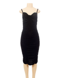DOLCE & GABBANA RUCHED SHEATH DRESS - eKlozet Luxury Consignment