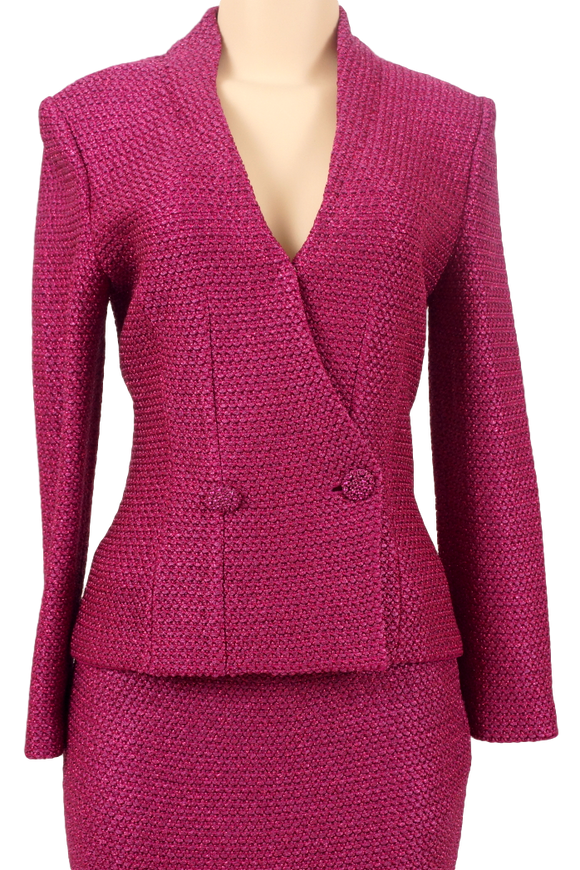ST. JOHN KNIT METALLIC JACKET W/ TAGS - eKlozet Luxury Consignment
