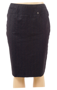 CHANEL WOOL/CASHMERE PENCIL SKIRT