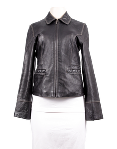 REACTION KENNETH COLE Leather Jacket - eKlozet Luxury Consignment