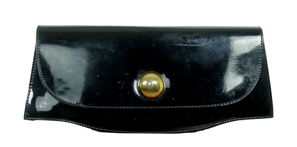 Vintage Patent Leather Envelope Clutch