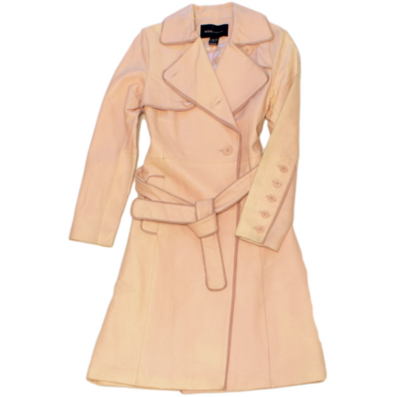 Moda International Leather Trench Coat