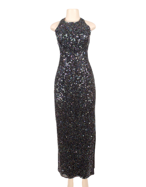 SCALA MULTICOLOR SEQUIN GOWN - eKlozet Luxury Consignment