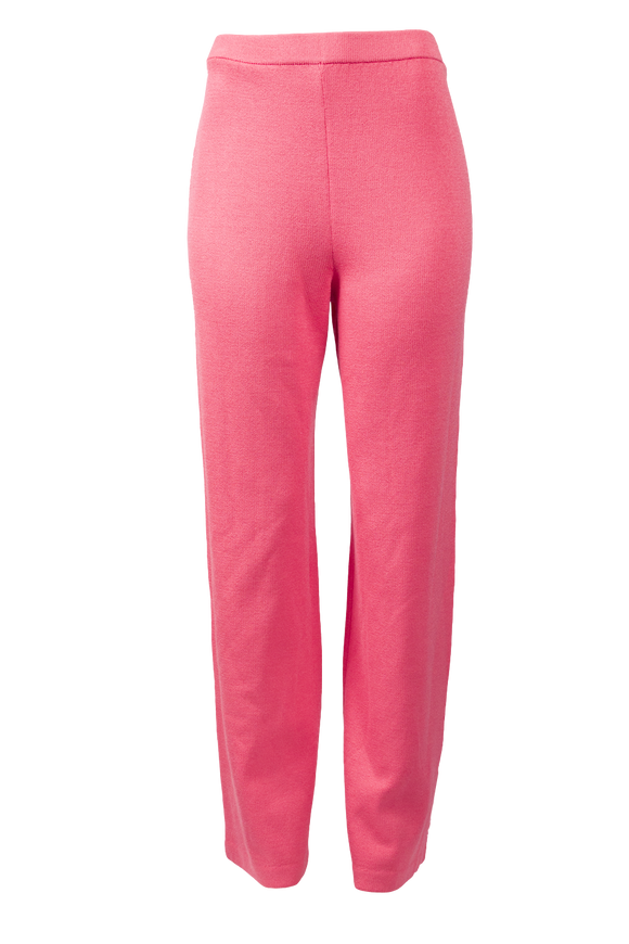 ST. JOHN COLLECTION KNIT PINK PANTS - eKlozet Luxury Consignment