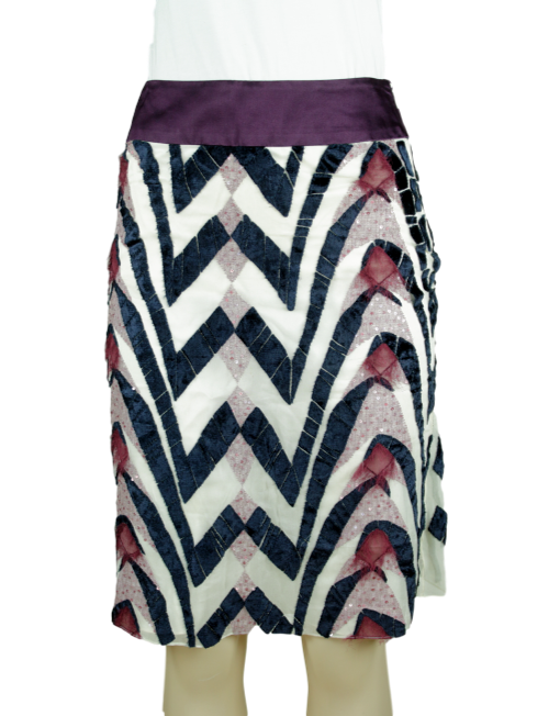 CAROLINA HERRERA Silk Texture Skirt
