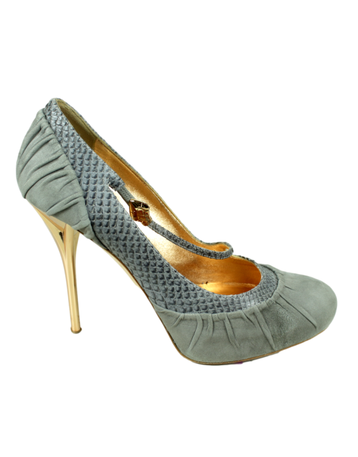 CHRISTIAN DIOR Cobra Suede Pumps Side - eKlozet Luxury Consignment