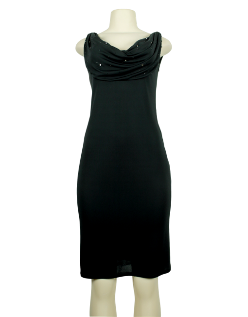 CLASS ROBERTO CAVALLI Cowl Neck Knee-Length Dress Front - eKlozet Luxury Consignment