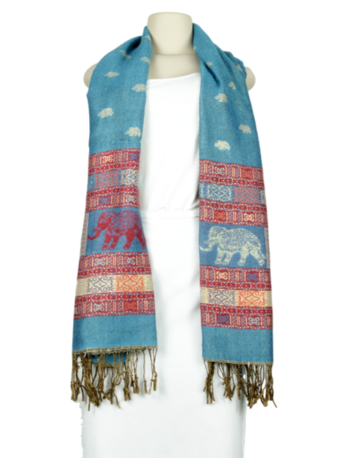 Graphic Print Reversible Scarf