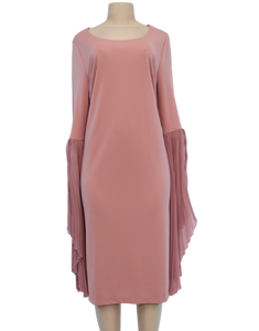 ELOQUII PLEATED FLARE SLEEVE DRESS - eKlozet Luxury Consignment