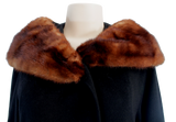 VINTAGE MAHOGANY MINK/WOOL COAT - eKlozet Luxury Consignment