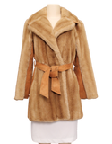 VINTAGE TISSAVEL FRANCE Faux Fur Coat Front | eKlozet Luxury Consignment