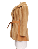 VINTAGE TISSAVEL FRANCE Faux Fur Coat Side| eKlozet Luxury Consignment