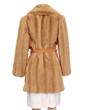 VINTAGE TISSAVEL FRANCE Faux Fur Coat Back| eKlozet Luxury Consignment