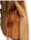 VINTAGE TISSAVEL FRANCE Faux Fur Coat Side Closeup| eKlozet Luxury Consignment