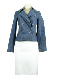 New York & Company Denim Jacket Front - eKlozet Luxury Consignment Boutique