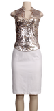 MODA INTERNATIONAL SEQUIN TOP
