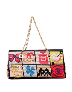 VINTAGE CHANEL NEEDLEPOINT LUCKY CHARMS PATCHWORK SHOULDER BAG - eKlozet Luxury Consignment