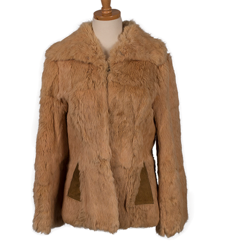 RICH'S VINTAGE RABBIT FUR COAT