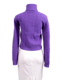 RALPH LAUREN CABLE-KNIT TURTLENECK WOOL AND CASHMERE SWEATER - eKlozet Luxury Consignment