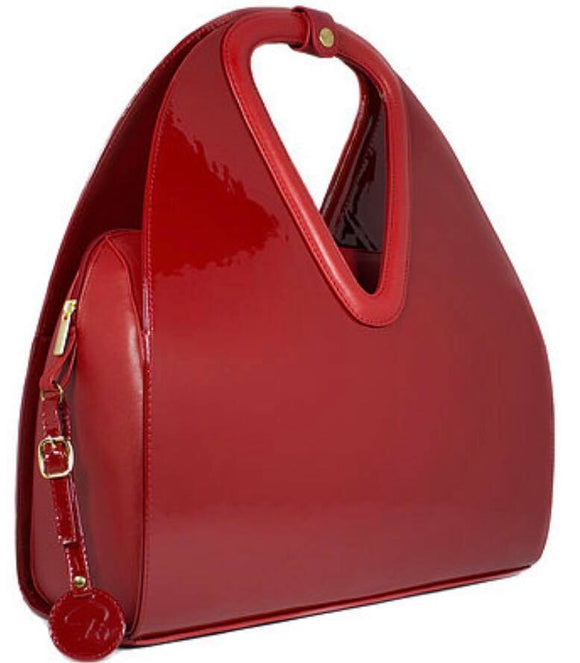 BENENATE COLLECTION LUCILLE PATENT TOTE