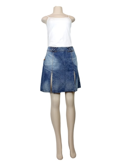D&G DOLCE & GABBANA Mini Skirt-Front- eKlozet Luxury Consignment