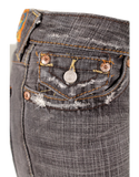 TRUE RELIGION MID-RISE DISTRESSED JEANS
