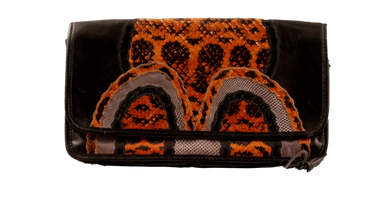 CARLOS FALCHI SNAKESKIN CLUTCH/SHOULDER BAG